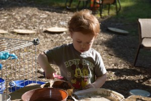 Playing with the Mud Kitchen
